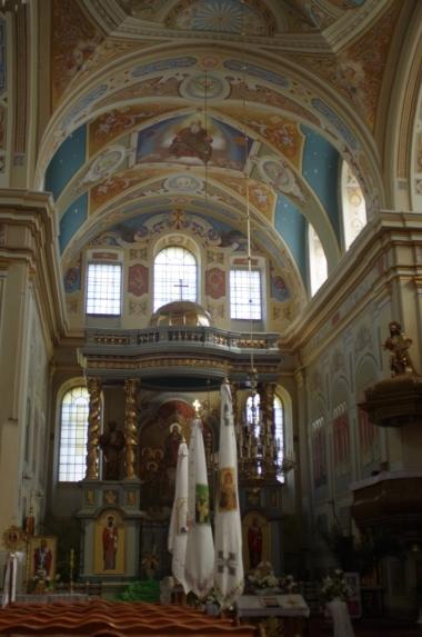 Wnętrze kościoła Dominikanów w Żółkwi