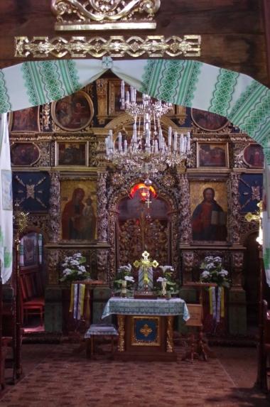 Wnętrze cerkwi św. Trójcy (UNESCO) w Żółkwi
