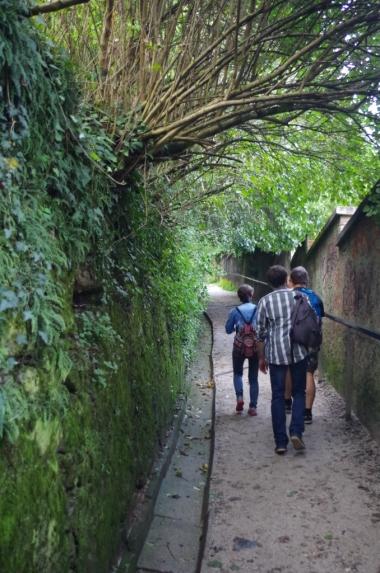 W drodze na zamek w Ljubljanie