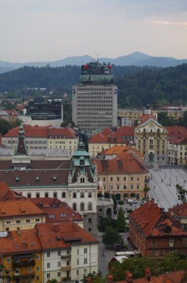 Widok z zamku na Ljubljanę