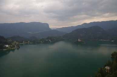 Jezioro Bled - widok z zamku