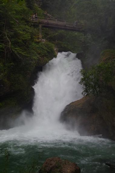 Wodospad w wąwozie Vintgar