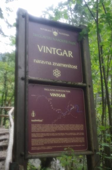 Vintgar - wejście