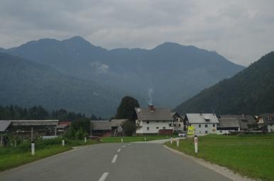 W drodze z Bledu nad Jezioro Bohinj