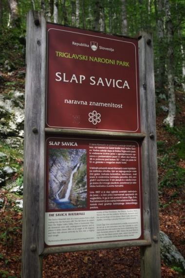 Przed wejściem na szlak do wodospadu Savica