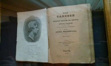 """Pierwsze wydanie """"Pana Tadeusza"""", Muzeum Adama Mickiewicza w Wilnie"""