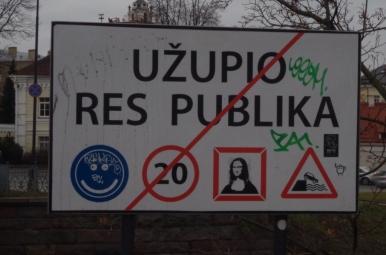 Wjazd / wyjazd z Republiki Zarzecza w Wilnie