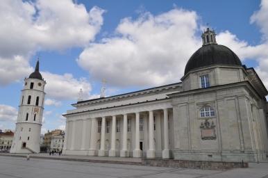 Plac Katedralny w Wilnie, zdjęcie wykonano 18.04.2012 r.