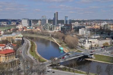 Widoki z Zamku Górnego na Wilno, zdjęcie wykonano 18.04.2012 r.