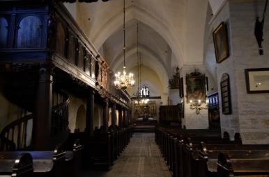 Wnętrze kościoła św. Ducha, Tallin, fot. Maja Cybulska
