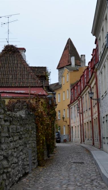 Jedna z uliczek Starego Miasta, Tallin