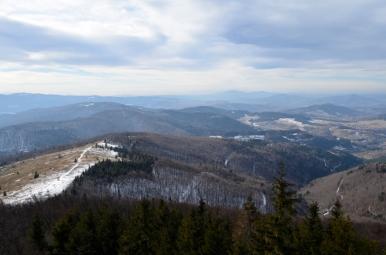 Widok z Mogielicy na południowy-zachód, fot. Maja Cybulska