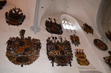 Herby we wnętrzu katedry NMP, Tallin, fot. Maja Cybulska