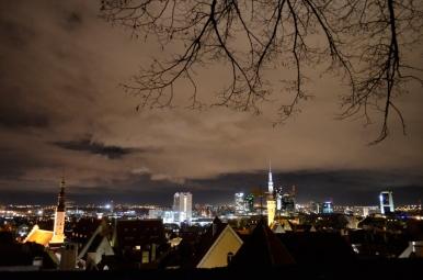 Wieczorny widok ze wzgórza Toompea na Tallin, fot. Maja Cybulska