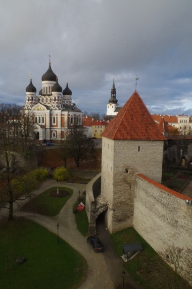 Widok z baszty Kiek in de Kök na Tallin