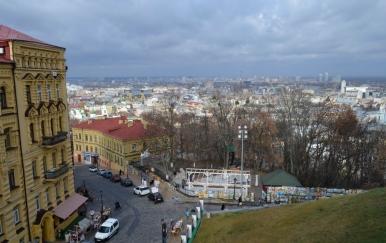 Widok spod Soboru św. Andrzeja, Kijów