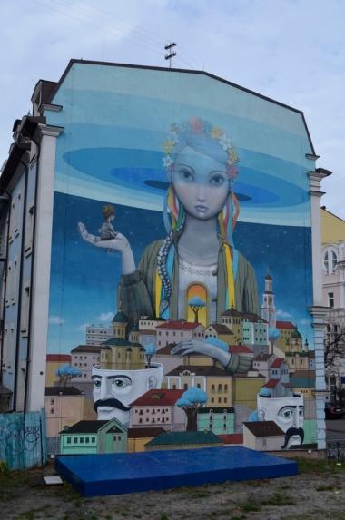 Mural w Kijowie