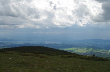 Widok z Pilska na Tatry
