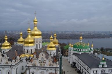 Ławra Pieczerska - widok z Wielkiej Dzwonnicy