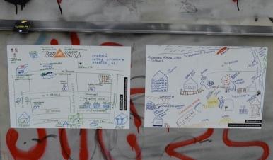 Na kładce w Kijowie pojawia się także wątek konfliktu w Donbasie...